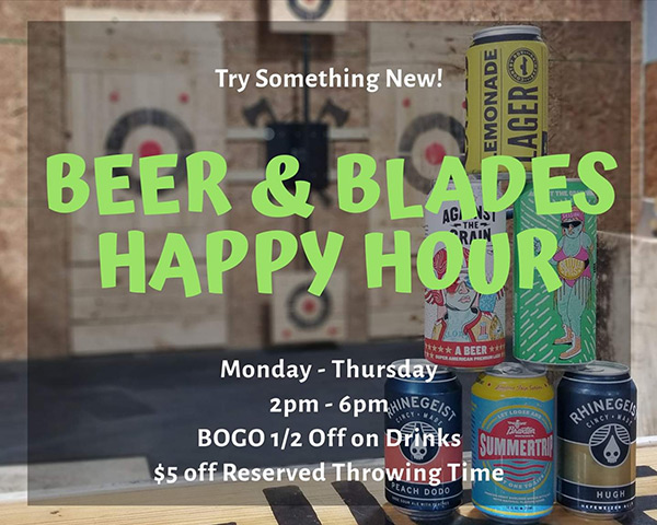Beer & Blades Happy Hour